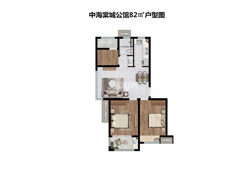 中海棠城公馆82㎡A户型