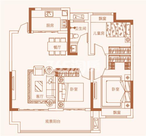中置中央城市广场户型图