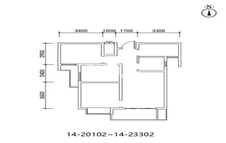 三迪枫丹10/14号楼2室2厅1卫1厨87.41㎡