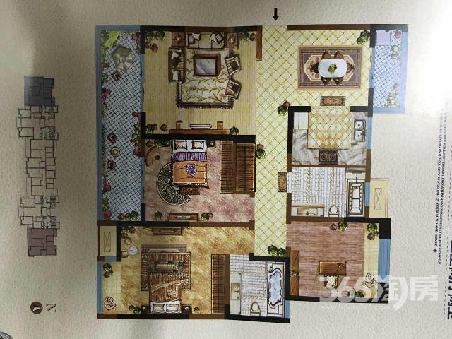 御城3室2厅2卫140.22�O满两年,毛坯,诚售