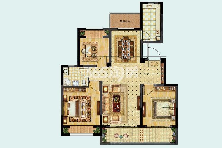 A户型居室98.00㎡