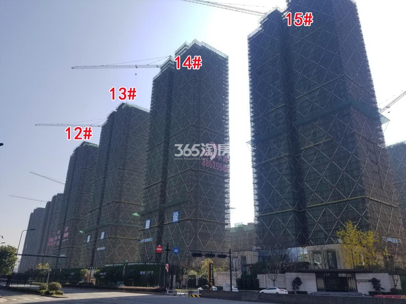 2018年2月底荣安翡翠半岛高层12-15号楼实景
