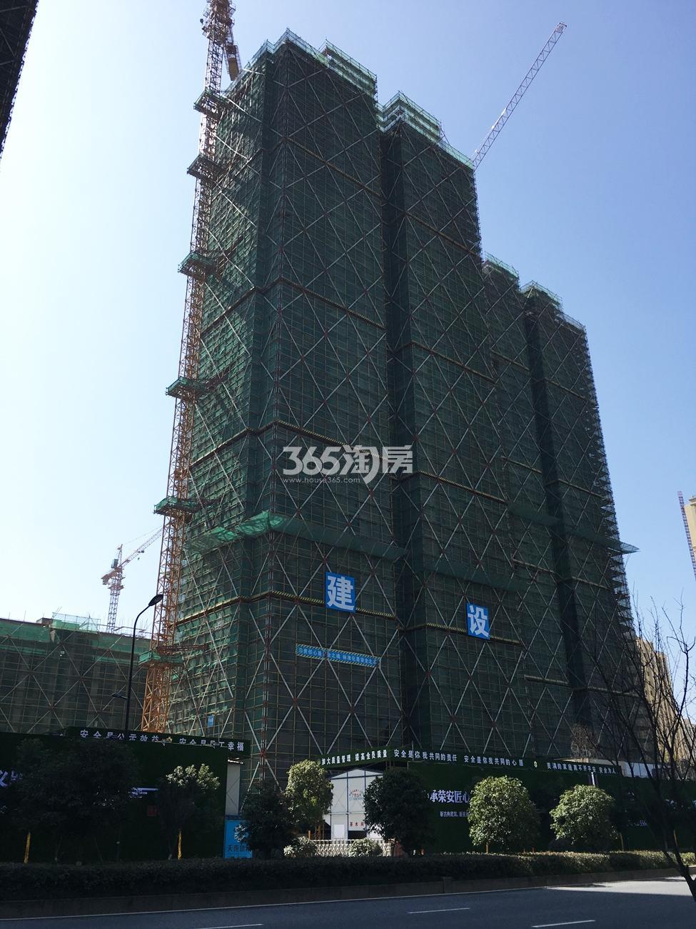 2018年2月底荣安翡翠半岛高层14号楼实景