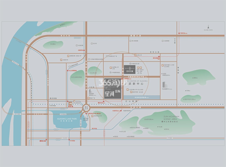 星河国际交通图