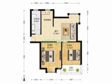 姑苏区梧桐花园2室2厅1卫88�O