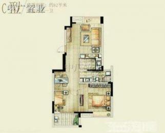 鸿意万嘉3室2厅2卫127.36平米2013年产权房简装