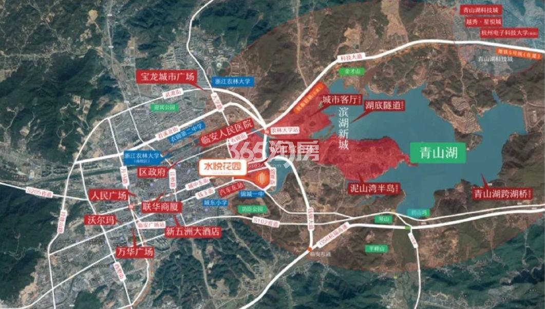 水悦花园交通图