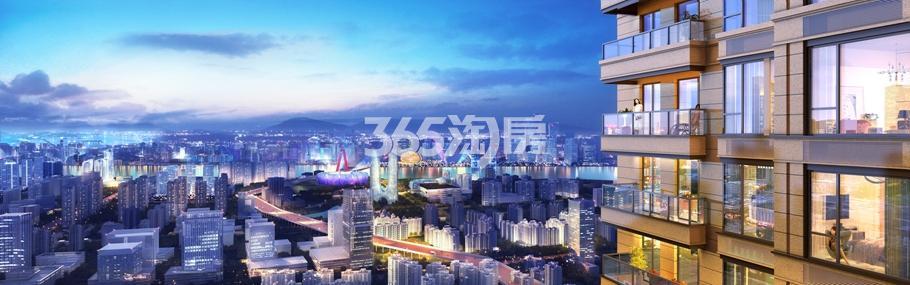 中南君奥时代阳台景观效果图