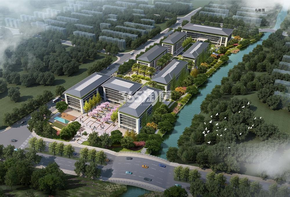 西溪新城市鸟瞰图