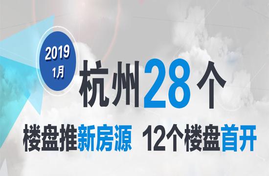 开盘:1月杭城仅28盘上市!