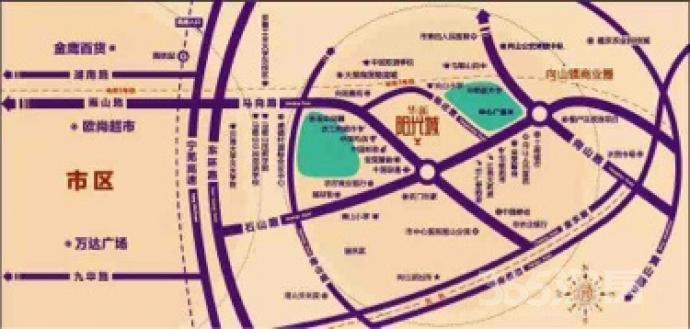 华新阳光城3室2厅2卫105平米毛坯产权房2015年建