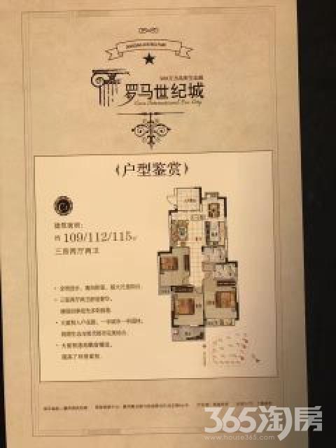 罗马世纪城3室2厅2卫125平米2014年产权房毛坯