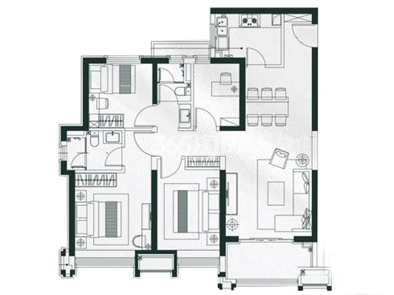 雅居乐锦城4室2厅2卫1厨123.00㎡