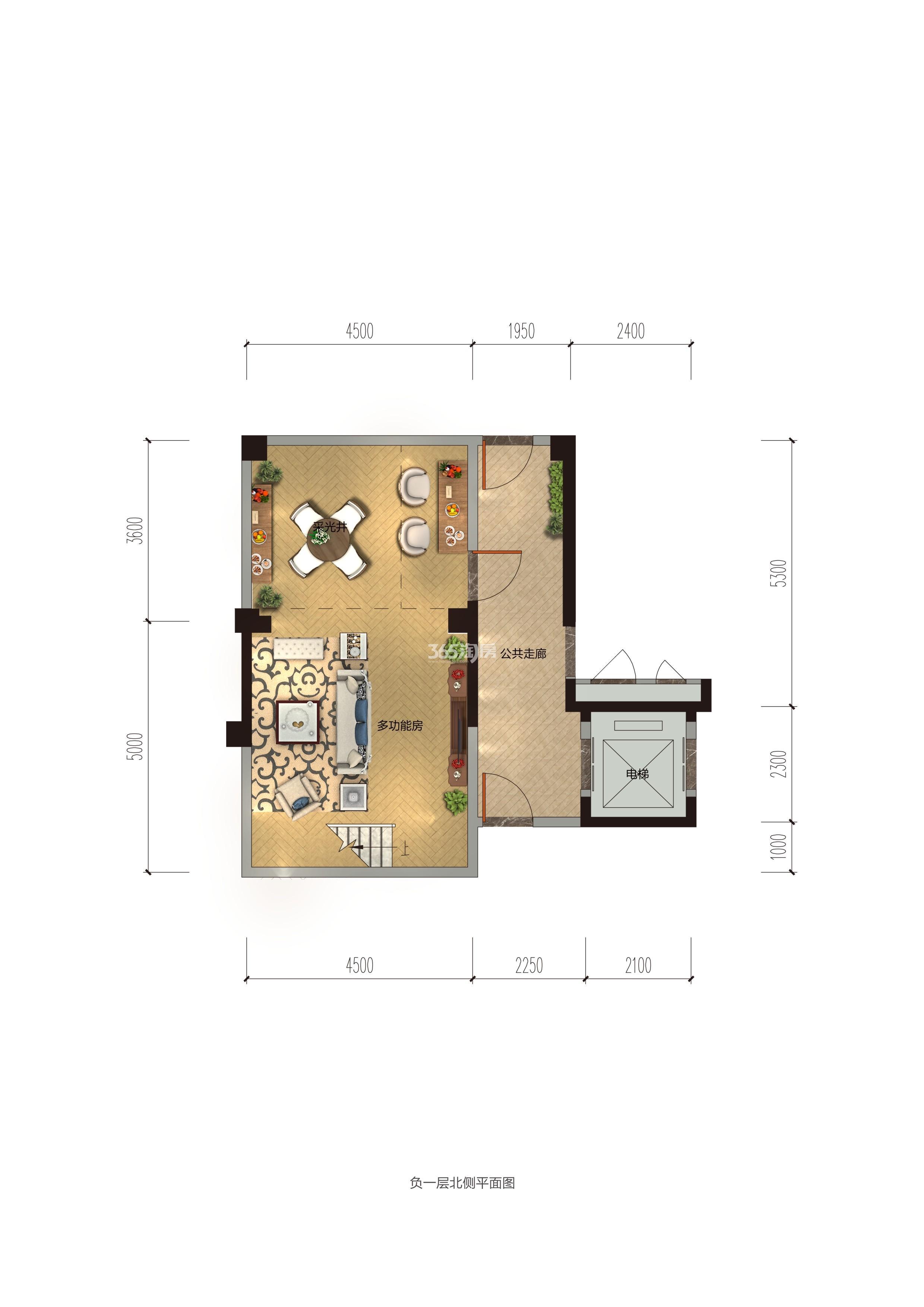 碧桂园香湖湾1号项目157-194㎡中叠(地下)户型图