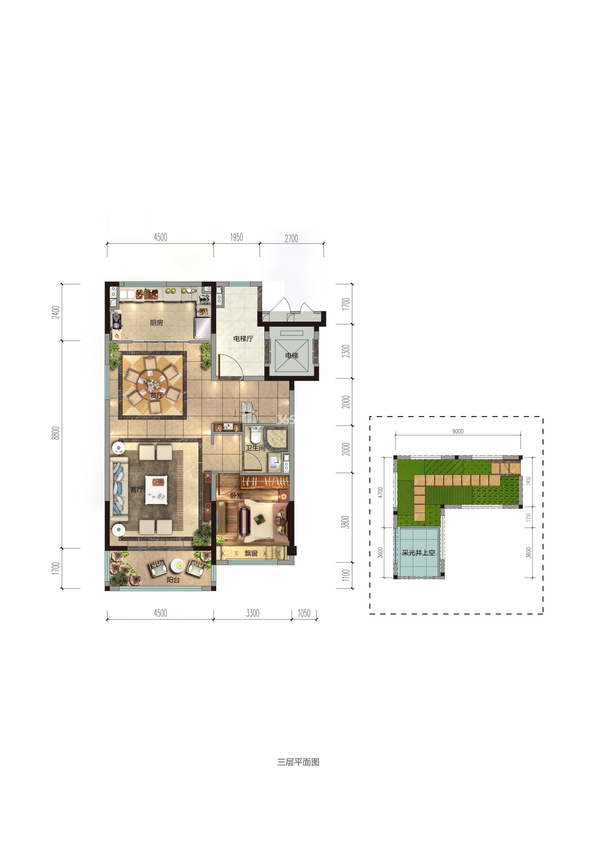碧桂园香湖湾1号项目157-194㎡中叠(一楼)户型图