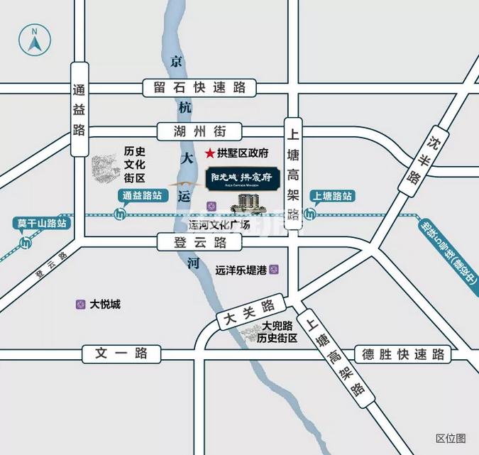 阳光城拱宸府交通图