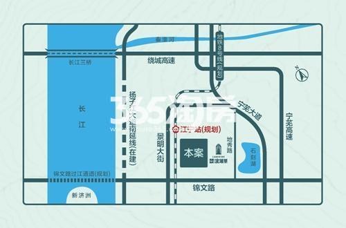 弘阳禹洲时光印象交通图