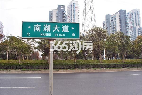 苏宁悦城周边道路(2016.02摄)