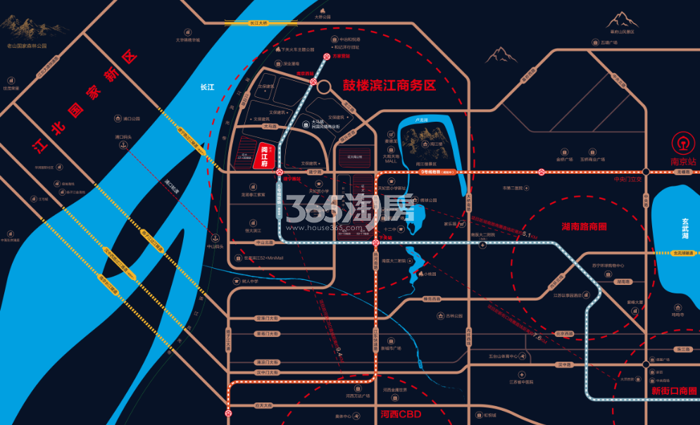 证大阅江府交通图