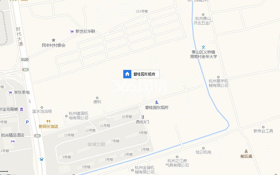 碧桂园东旭府交通图