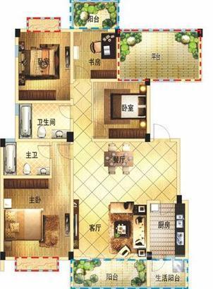 清山公爵城3室1厅1卫130�O地铁口特价房!
