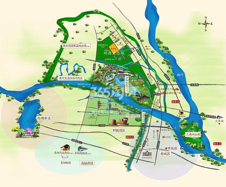 祥源生态城·景秀园交通图