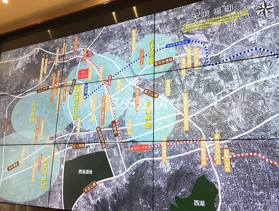 银城云谷天境交通图