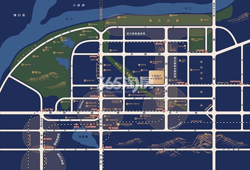 中海潮π金街交通图