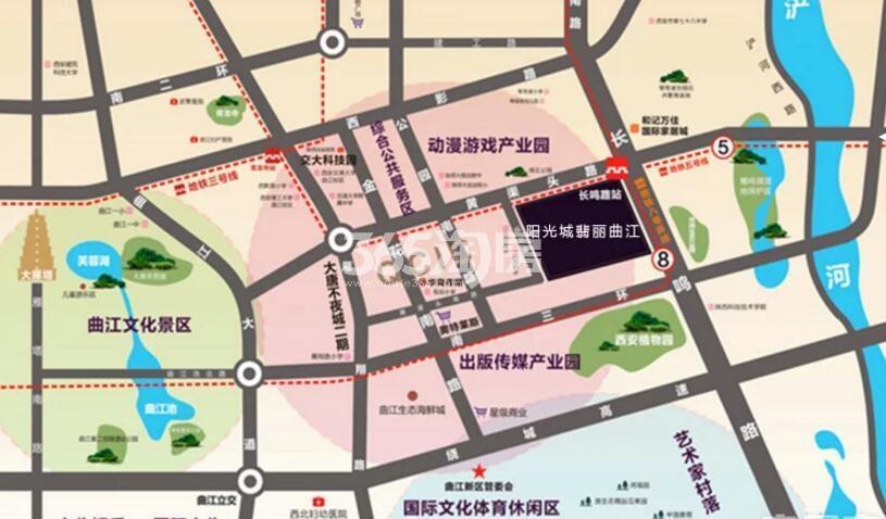 阳光城翡丽曲江交通图