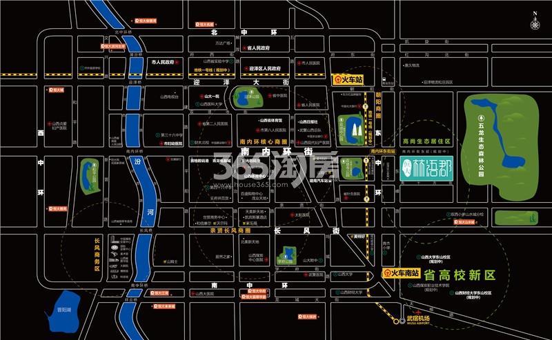 恒大林语郡交通图