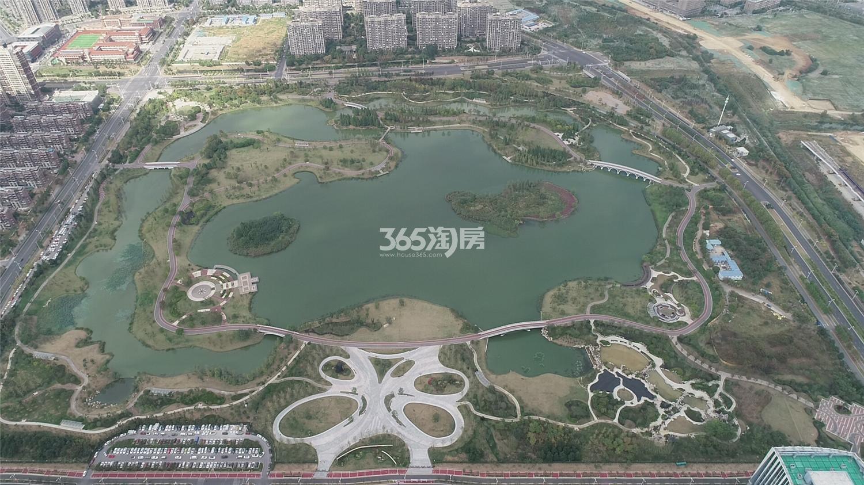 高科荣境仙林湖板块航拍鸟瞰图-仙林湖公园