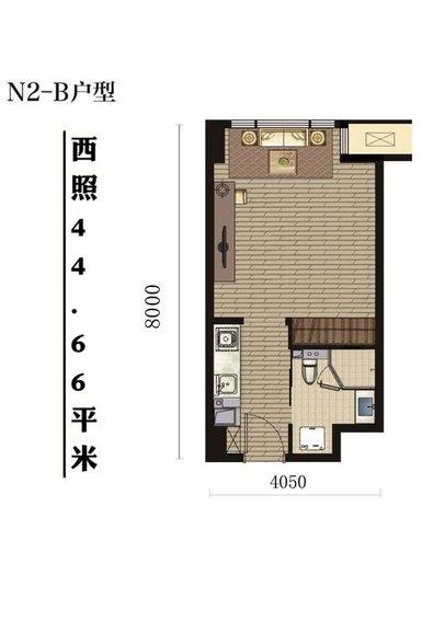 66平米 1室1厅1卫