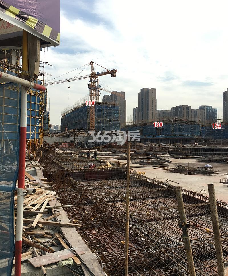 中国铁建西湖国际城11、13、15号楼实景图(2017.11)