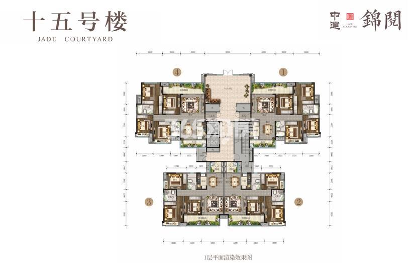 15号楼1平面图