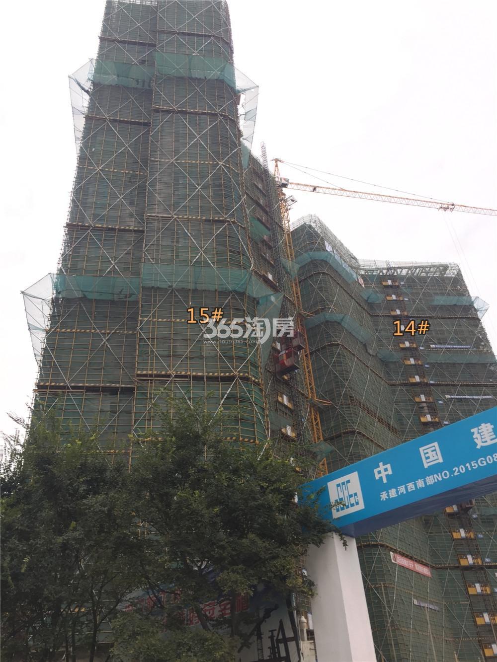 金地中心菁华在建实景图(9.11)