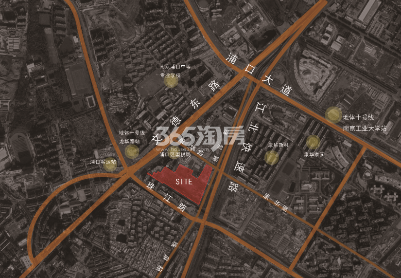 雅居乐江浦G36地块区位图