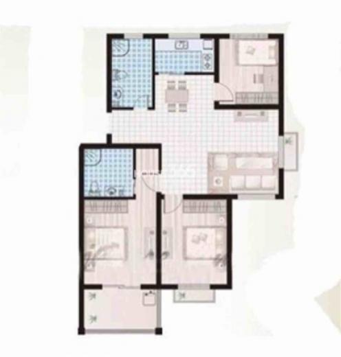 颐园世家3室2厅2卫118平米整租毛坯