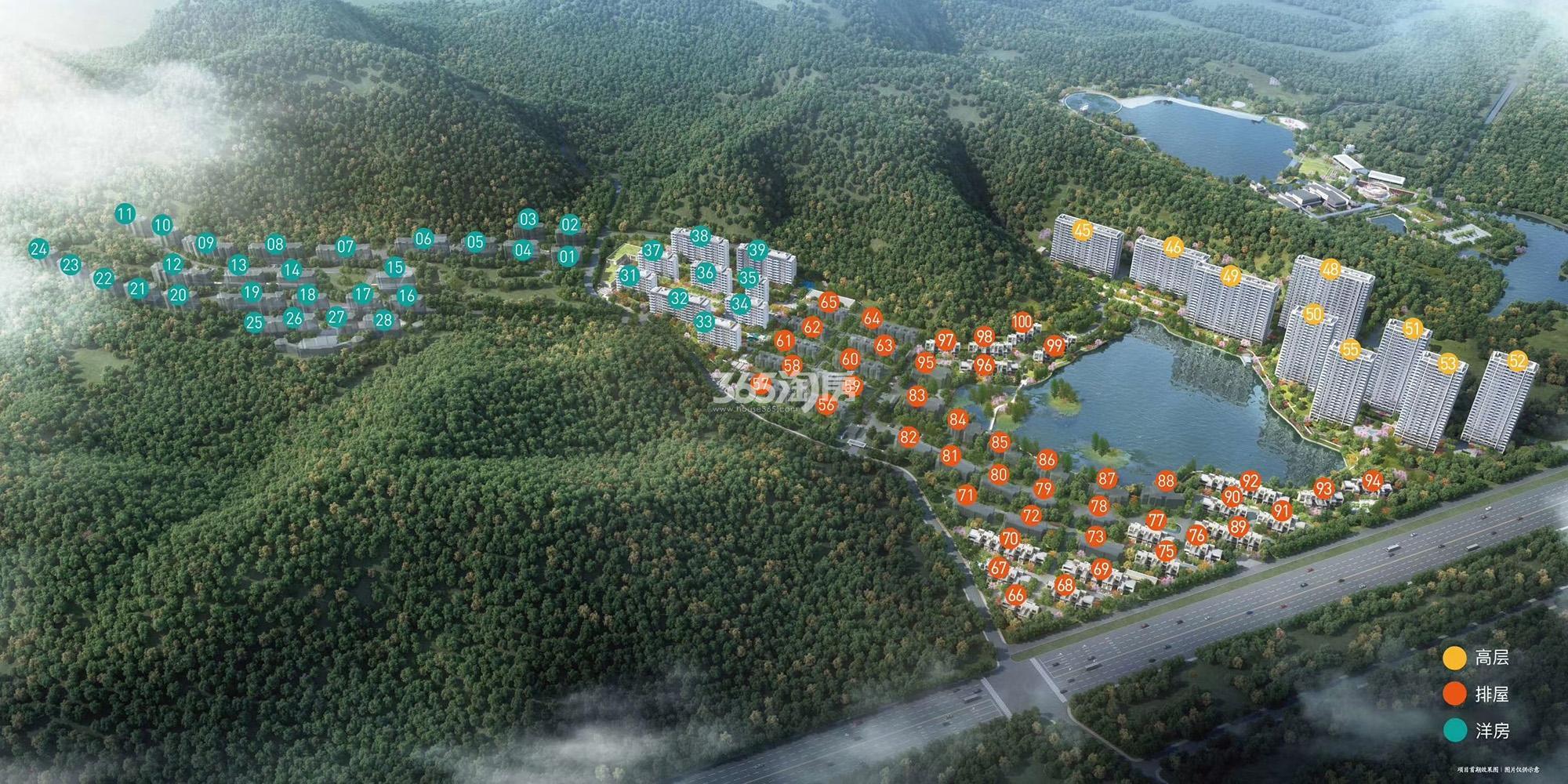 森与海之城鸟瞰图