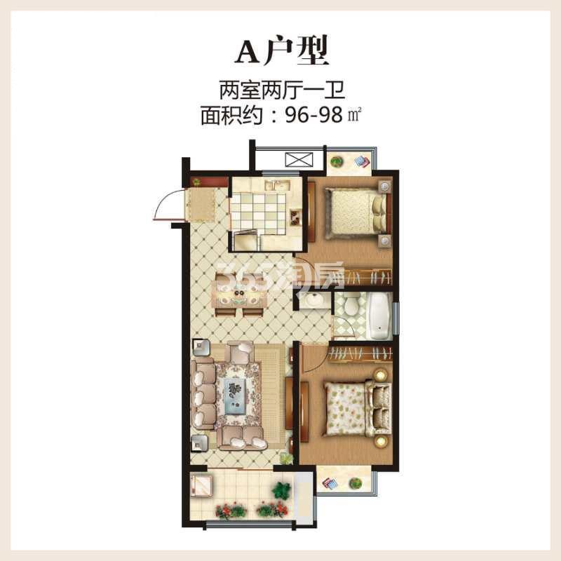 第一国际四期颐园高层96-98平户型图