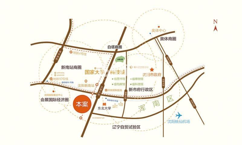 亿茂禧悦风华交通图