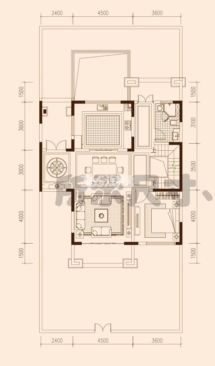 保利西山林语F23#F27#楼02户型400㎡之一层94㎡