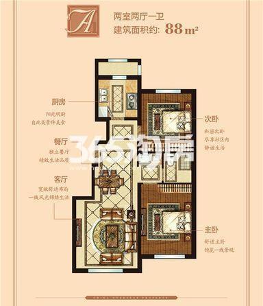 洋房 88平米 2室2厅1卫