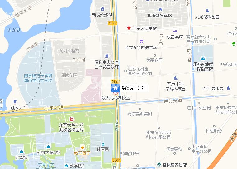 铂岸中心(原融信城市之窗)交通图