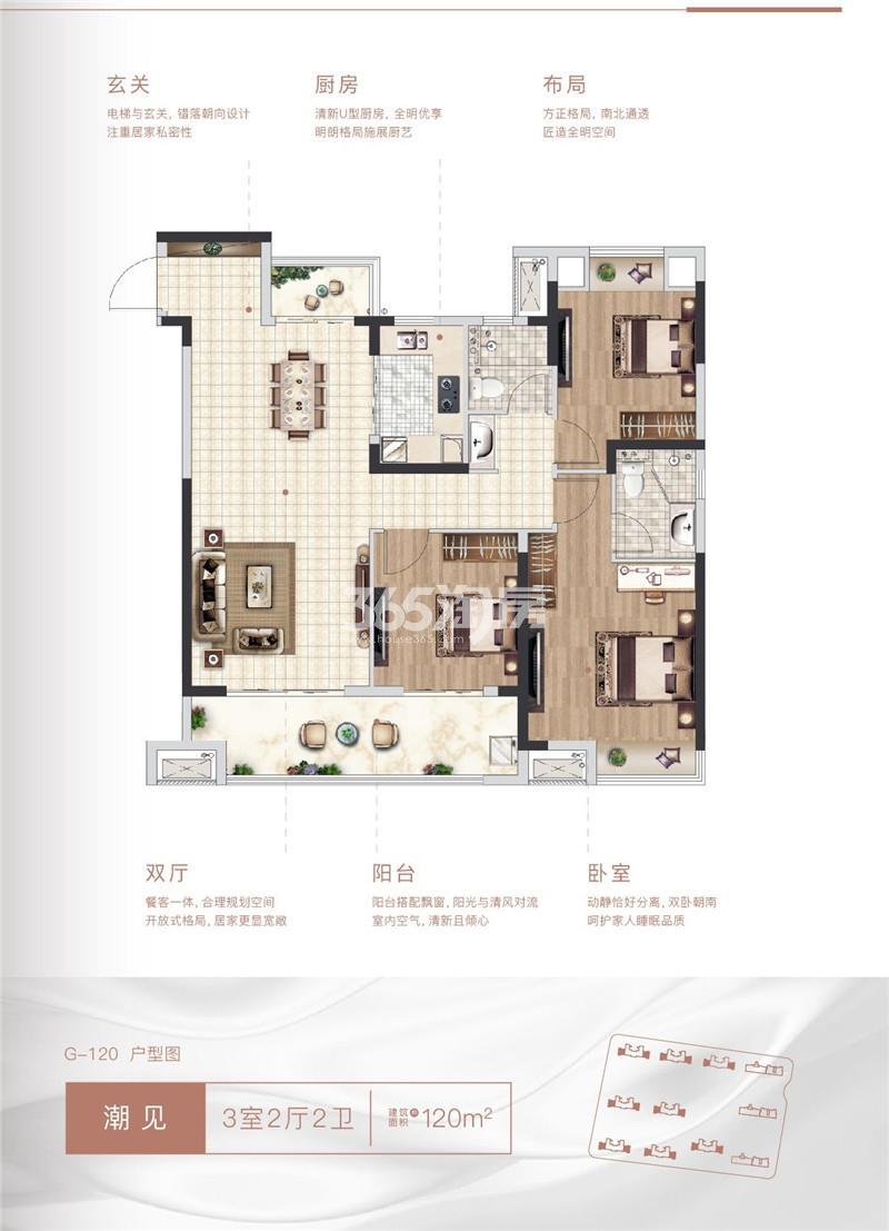 G-120户型3室2厅2卫