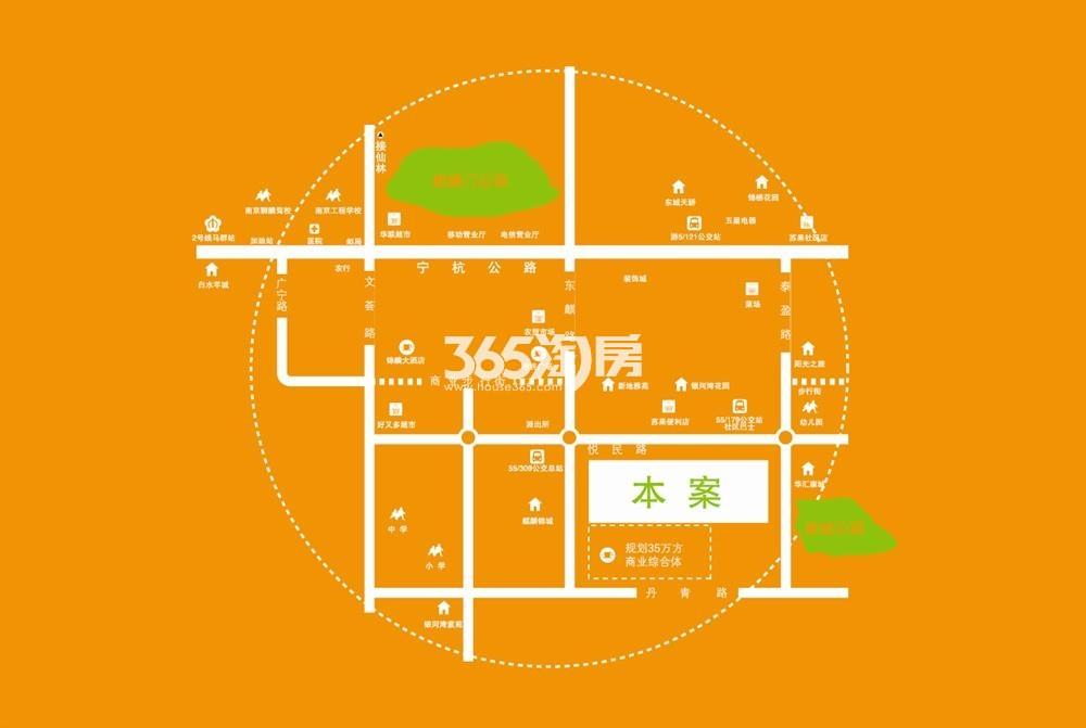 东方红郡天赋广场交通图
