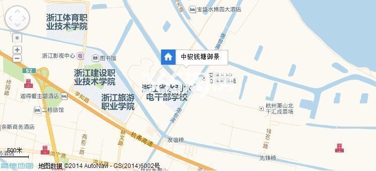 中骏钱塘御景交通图