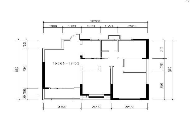 中建昆明澜庭二期三室两厅一厨一卫110.05㎡