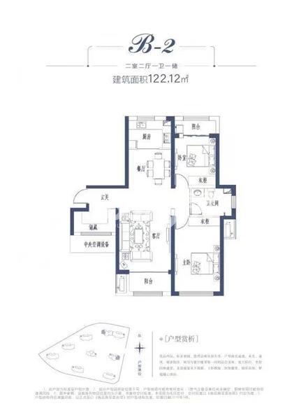 天宝世纪项目户型图(建面约122.12㎡)