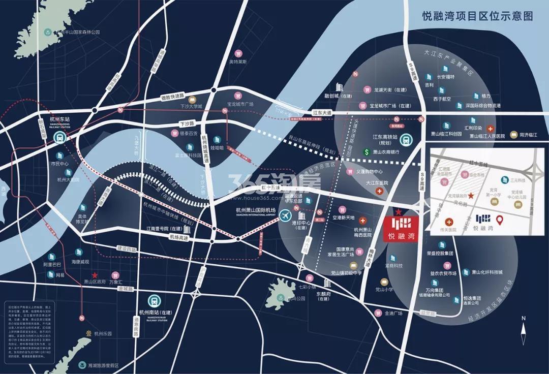悦融湾交通图