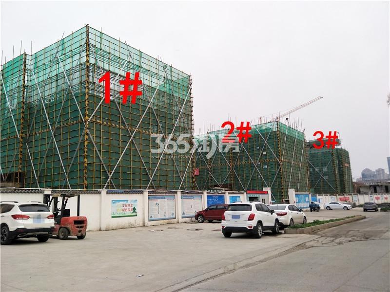 绿地理想城悦湖公馆在建1、2、3#楼实景图(4.4)